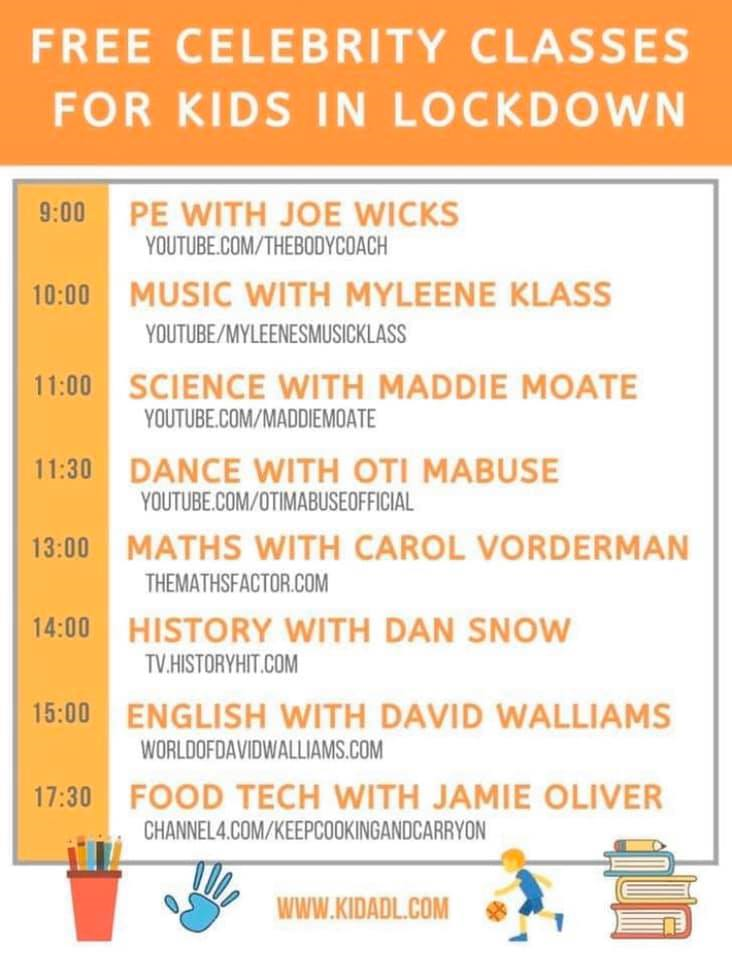 Childrens Timetable